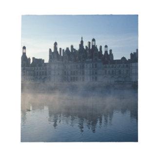 Castillo francés Chambord en el amanecer, Loir-et- Bloc De Papel