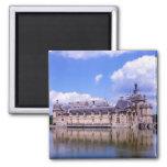 Castillo francés Chantilly, Oise, Francia Imán Cuadrado