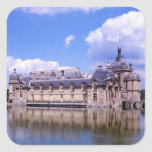 Castillo francés Chantilly, Oise, Francia Pegatina Cuadrada