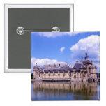 Castillo francés Chantilly, Oise, Francia Pin Cuadrado
