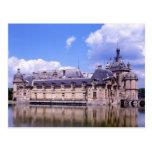 Castillo francés Chantilly, Oise, Francia Postales