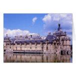 Castillo francés Chantilly, Oise, Francia Tarjeta De Felicitación