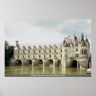 Castillo francés Chenonceau el valle del Loira F Impresiones