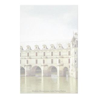 Castillo francés Chenonceau el valle del Loira F Papelería De Diseño