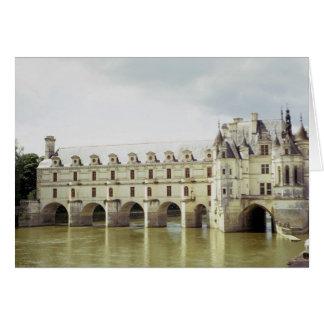 Castillo francés Chenonceau el valle del Loira F Tarjetas