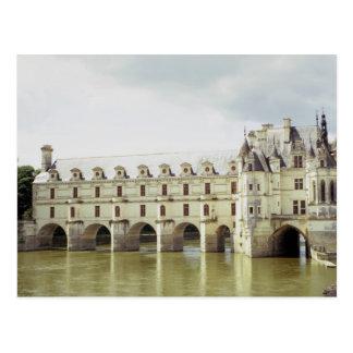Castillo francés Chenonceau el valle del Loira F Tarjeta Postal