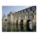 Castillo francés, Chenonceau, Indre/Loir, Francia Tarjetas Postales