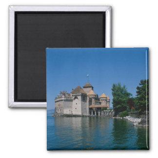 Castillo francés Chillon, cantón del lago Lemán, V Imán Cuadrado