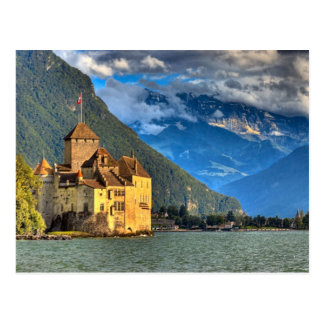 Castillo francés Chinon 4 Postales
