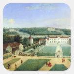 Castillo francés de Charles Guillaume Le Normant Pegatina Cuadrada