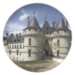 Castillo francés de Chaumont-Sur-Loire. Plato Para Fiesta