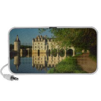 Castillo francés de Chenonceau el valle del Loira Laptop Altavoces