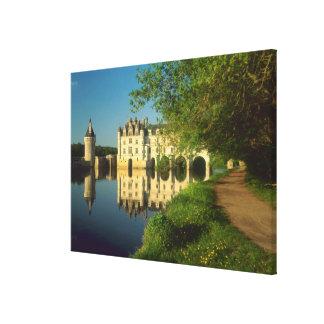 Castillo francés de Chenonceau el valle del Loira Impresiones En Lienzo Estiradas