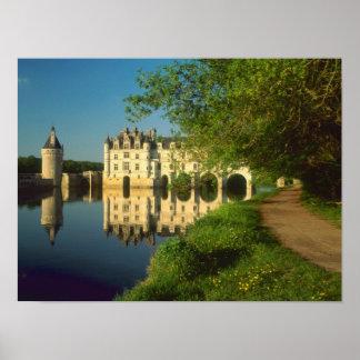 Castillo francés de Chenonceau el valle del Loira Impresiones