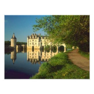 Castillo francés de Chenonceau el valle del Loira Impresion Fotografica