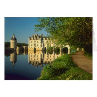 Castillo francés de Chenonceau el valle del Loira Tarjetón