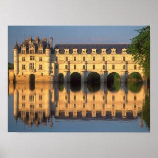 Castillo francés de Chenonceau río Cher Loir-et- Impresiones