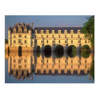 Castillo francés de Chenonceau río Cher Loir-et- Tarjetas Postales