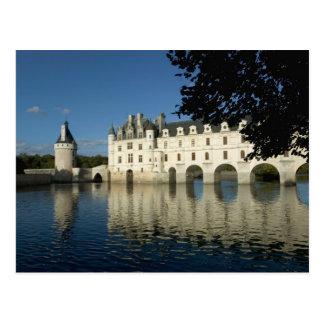 Castillo francés de Chenonceau río Cher Loir-et- Postal