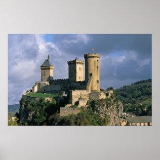 Castillo francés de Comtal del castillo francés de Póster