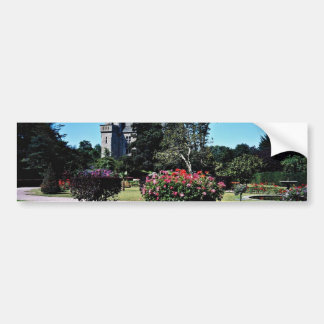 Castillo francés de Tourlaville, flores de Francia Pegatina Para Auto