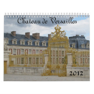 Castillo francés de Versalles Calendarios De Pared