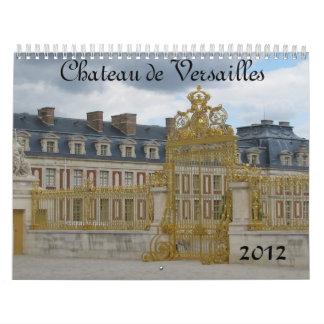 Castillo francés de Versalles Calendario De Pared