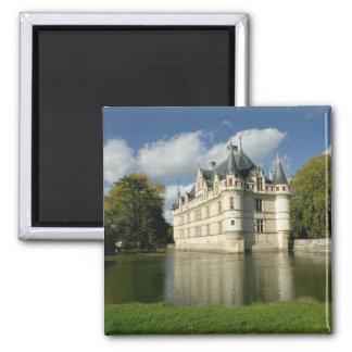 Castillo francés del Azay-le-Rideau, Indre-et-Loir Imán Cuadrado