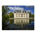 Castillo francés del Azay-le-Rideau, Tarjetas Postales
