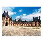 Castillo francés Fontainebleau, Francia Postal