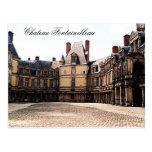 Castillo francés Fontainebleau, Francia Postales