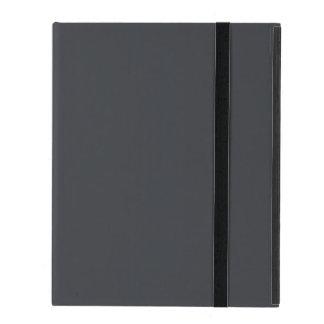 Castillo francés francés gris oscuro del carbón de iPad coberturas
