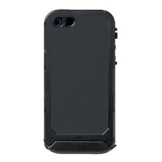 Castillo francés francés gris oscuro del carbón de funda para iPhone 5 incipio ATLAS ID