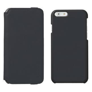 Castillo francés francés gris oscuro del carbón de funda billetera para iPhone 6 watson