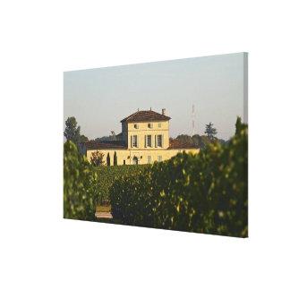 Castillo francés Lafleur Petrus y viñedo, en Pomer Impresiones En Lona Estiradas