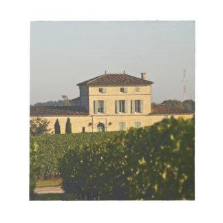 Castillo francés Lafleur Petrus y viñedo, en Pomer Libretas Para Notas
