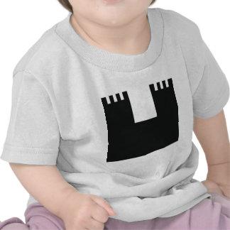 castillo francés negro del castillo camiseta