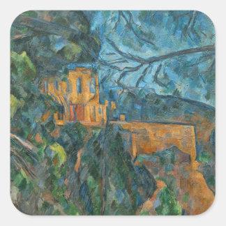 Castillo francés Noir, 1900-04 (aceite en lona) Pegatina Cuadrada