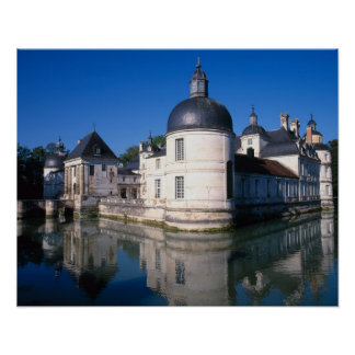 Castillo francés Tanlay, Tanlay, Borgoña, Francia Posters