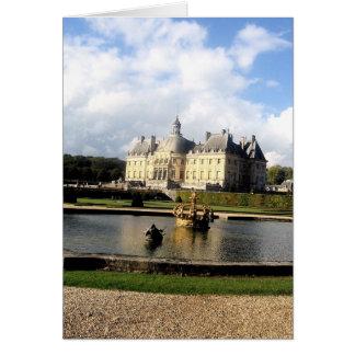 Castillo francés-Vaux-le-Vicomte, Francia Tarjetón