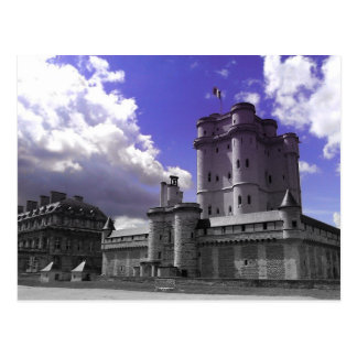 Castillo francés Vincennes, París Postal