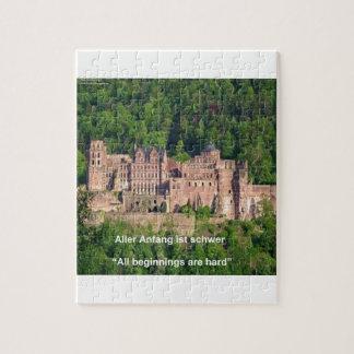 Castillo Francfort de Neuschwanstein y cita Puzzle Con Fotos