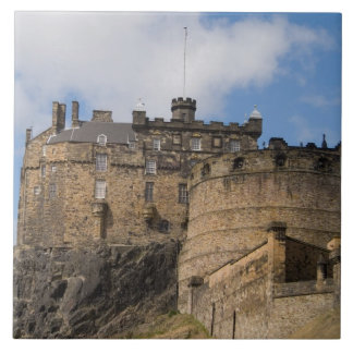 Castillo gigante famoso hermoso de Edimburgo adent Azulejo Cuadrado Grande