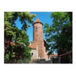 Castillo gótico medieval II de Olsztyn - postal
