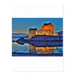 Castillo HDR de Eilean Donan Tarjeta Postal