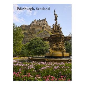 Castillo hermoso de Edimburgo Postal