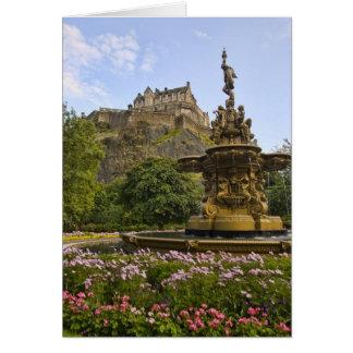Castillo hermoso de Edimburgo Tarjeta De Felicitación