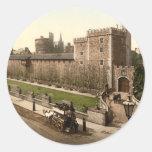 Castillo I, Cardiff, País de Gales de Cardiff Pegatina Redonda