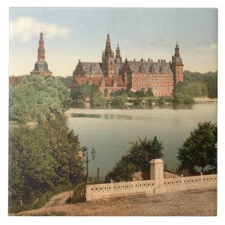 Castillo I, Copenhague, Dinamarca de Azulejo Cuadrado Grande