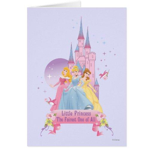 Castillo ideal de la princesa el   de Disney Tarjeta De Felicitación